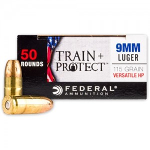 Federal Train + Protect 9mm Luger 50rd Ammo