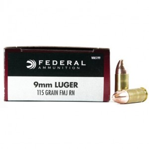 Federal Champion 9mm Luger 50rd Ammo