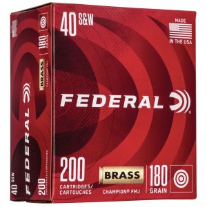 Federal Champion Training 40 Smith & Wesson 200rd Ammo