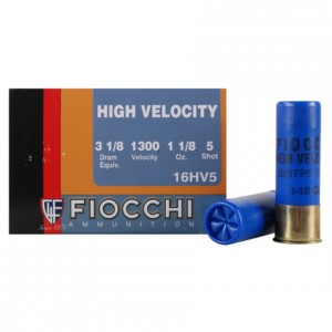 Fiocchi High Velocity 16 Gauge 5 Shot 25rd Ammo