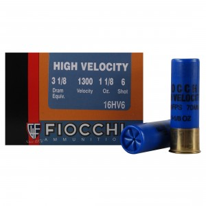 Fiocchi High Velocity 16 Gauge 6 Shot 25rd Ammo