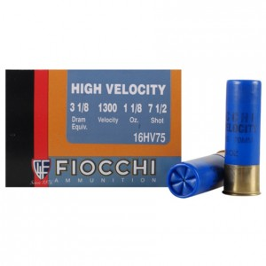 Fiocchi High Velocity 16 Gauge 7.5 Shot 25rd Ammo