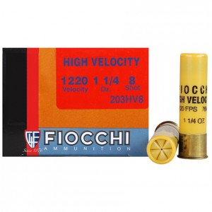 Fiocchi High Velocity 20 Gauge 8 Shot 25rd Ammo