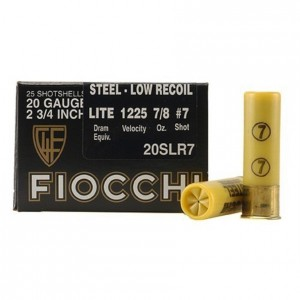 Fiocchi Low Recoil 20 Gauge 7 Shot 25rd Ammo