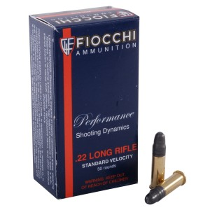 Fiocchi Shooting Dynamics 22 Long Rifle 50rd Ammo