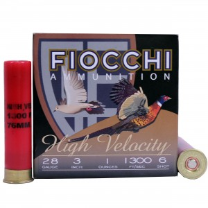 Fiocchi High Velocity 28 Gauge 6 Shot 25rd Ammo