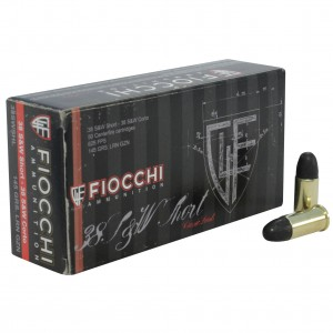 Fiocchi Shooting Dynamics 38 Smith & Wesson Short 50rd Ammo
