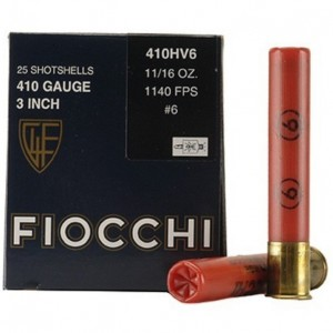 Fiocchi High Velocity 410 Gauge 6 Shot 25rd Ammo
