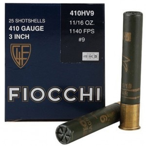 Fiocchi High Velocity 410 Gauge 9 Shot 25rd Ammo