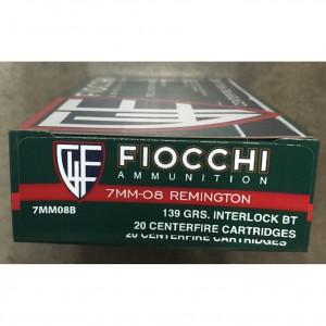 Fiocchi Shooting Dynamics 7mm-08 Remington 20rd Ammo
