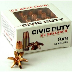 G2 Research Civic Duty 9mm Luger 20rd Ammo