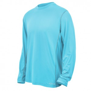 GameGuard Men's River Blue Long Sleeve Performance Tee