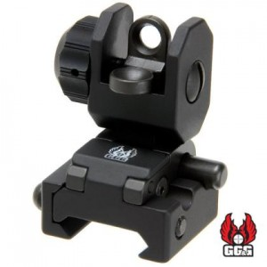 GG&G Spring Actuated A2 Back Up Iron Sight