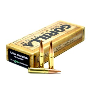 Gorilla Match 300 AAC Blackout 20rd Ammo