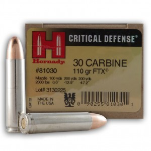 Hornady Critical Defense 30 Carbine 25rd Ammo