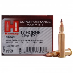 Hornady Superformance Varmint 17 Hornet 25rd Ammo