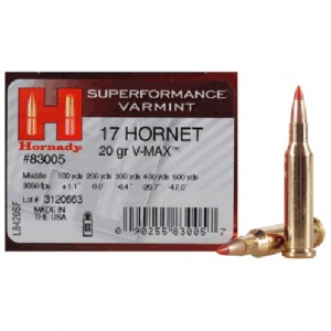 Hornady Superformance 17 Hornet 25rd Ammo