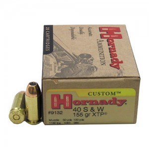 Hornady Custom 40 Smith & Wesson 20rd Ammo