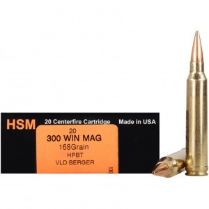HSM Trophy Gold 300 Winchester Magnum 20rd Ammo