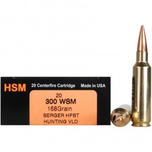 HSM Trophy Gold 300 Winchester Short Magnum 20rd Ammo