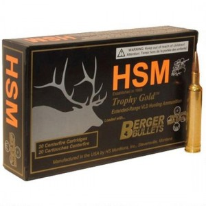 HSM Trophy Gold 6mm Remington 20rd Ammo