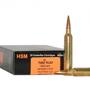 HSM Trophy Gold 7mm Remington Ultra Magnum 20rd Ammo