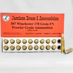 Jamison Prowler Grade 307 Winchester 20rd Ammo