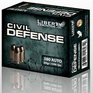 Liberty Civil Defense 380 ACP 20rd Ammo