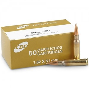 Magtech CBC Defense 7.62x51mm Ball M80 50rd Ammo