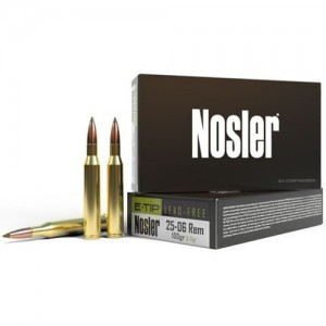 Nosler E-Tip 25-06 Remington 20rd Ammo