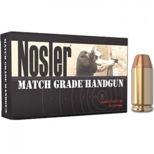 Nosler Match Grade Handgun 40 Smith & Wesson 50rd Ammo