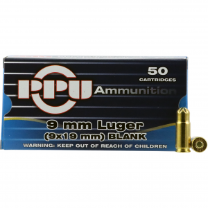 PPU Blank 9mm Luger 50rd Ammo
