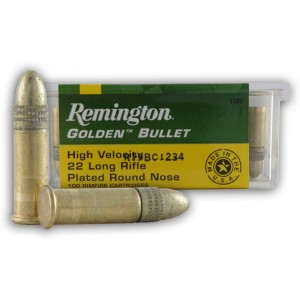 Remington Golden 22 Long Rifle 100rd Ammo