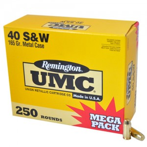 Remington UMC Handgun 40 Smith & Wesson 250rd Ammo