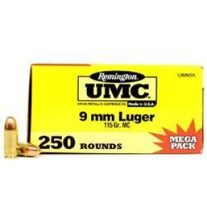 Remington UMC Handgun 9mm Luger 250rd Ammo