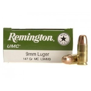 Remington UMC Handgun 9mm Luger 50rd Ammo