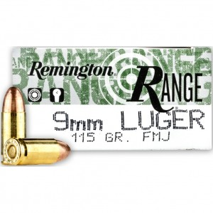 Remington Range 9mm Luger 50rd Ammo