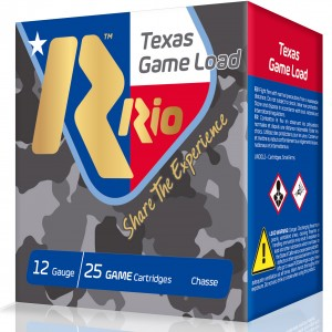 Rio Top Game Texas Game Load High Velocity 12 Gauge 8 Shot 25rd Ammo
