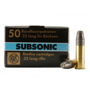 RWS Subsonic 22 Long Rifle 50rd Ammo