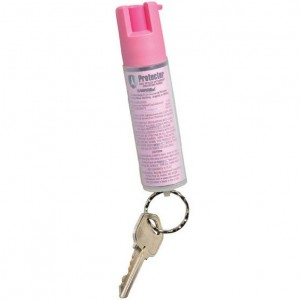 Sabre Pink Protector Dog Spray with Key Ring