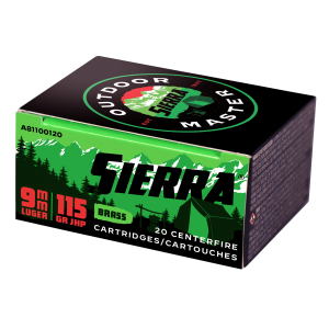Sierra Outdoor Master 9mm Luger 20rd Ammo