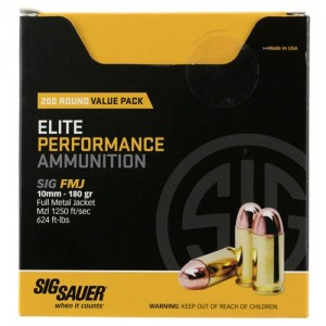 Sig Sauer Practice 10mm Auto 200rd Ammo