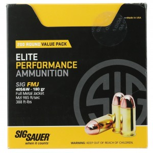 Sig Sauer Practice 40 Smith & Wesson 200rd Ammo
