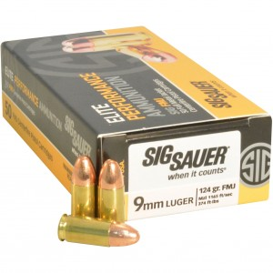 Sig Sauer Practice 9mm Luger 50rd Ammo