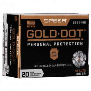 Speer Gold Dot Personal Protection 45 ACP 20rd Ammo