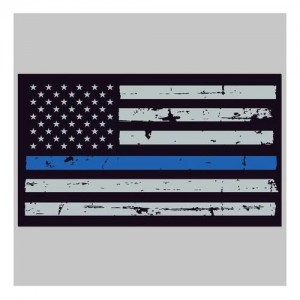 United States Tactical Thin Blue Line Flag Sticker