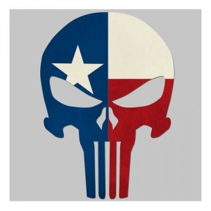 United States Tactical Texas Flag Skull Sticker