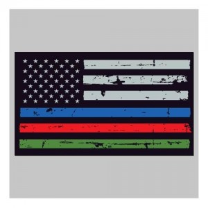 United States Tactical Police / Fire / Military Flag Sticker