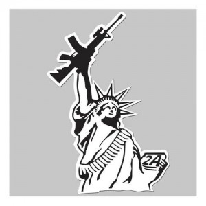 United States Tactical AR15 Liberty Sticker