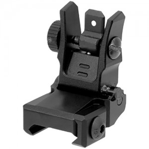 UTG AR15 Low Profile Flip-Up Rear Sight with Dual Aiming Ape